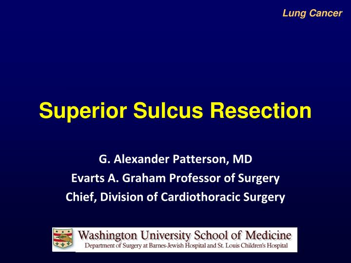 superior sulcus resection n.