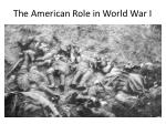 The American Role in World War I