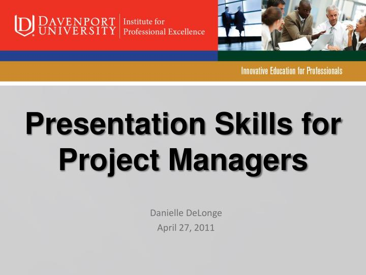 presentation skills for project managers n.
