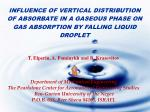 INFLUENCE OF VERTICAL DISTRIBUTION OF ABSORBATE IN A GASEOUS PHASE ON GAS ABSORPTION BY FALLING LIQUID DROPLET