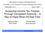 Accessing Income Tax Treaties Through Competent Authority – A Ray of Hope When All Else Fails