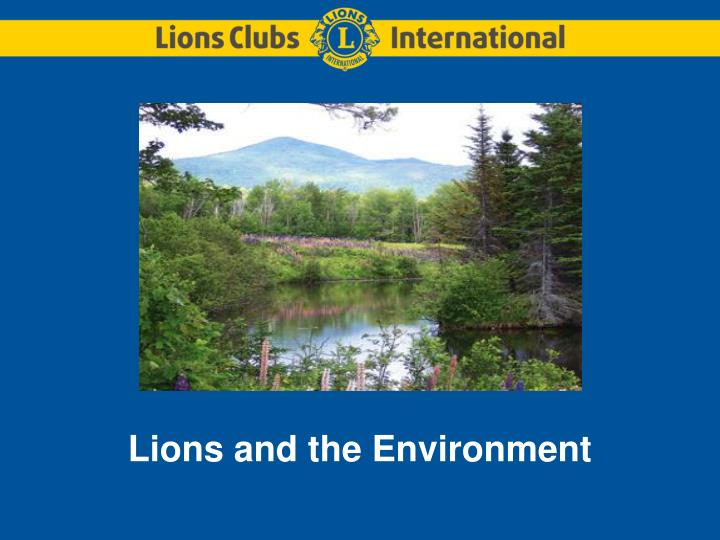 lions and the environment n.
