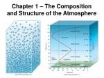 Chapter 1 – The Composition and Structure of the Atmosphere