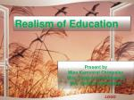 Realism of Education