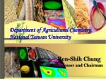 Department of Agricultural Chemistry, National Taiwan University