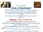 Starter – Recap on Magistrates 1 What % of criminal cases do magistrates deal with?