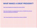 WHAT MAKES A GREAT PRESIDENT?