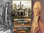 Legislative Assembly (1791-1792) and National Convention (1792-1795)