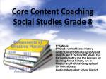 Core Content Coaching Social Studies Grade 8