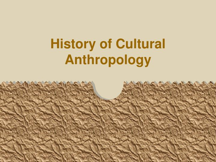 history of cultural anthropology n.
