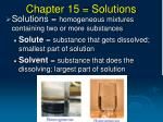 Chapter 15 = Solutions