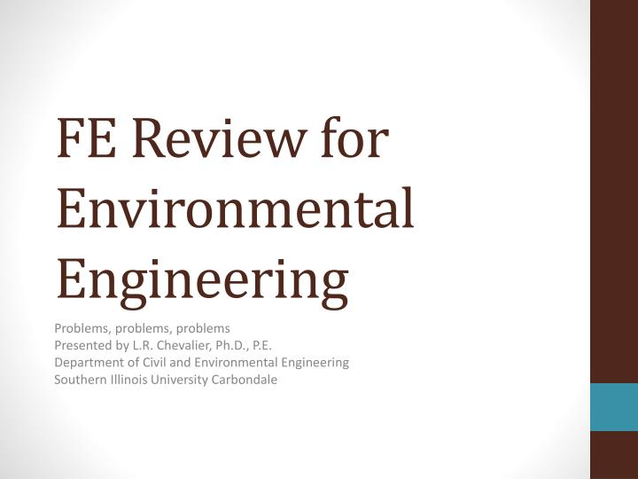 fe review for environmental engineering n.