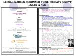 LESSAC-MADSEN RESONANT VOICE THERAPY (LMRVT) - Adults & Kids -