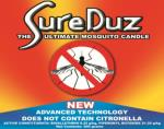 The SureDuz Mosquito Candle, does  NOT  use Citronella but uses a proven mosquito eliminator that is released when heate