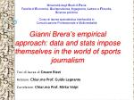 Gianni Brera's empirical approach: data and stats impose themselves in the world of sports journalism