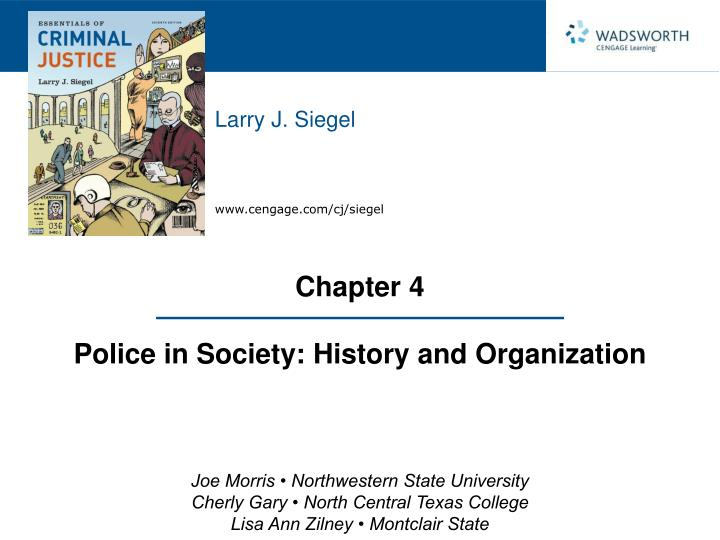 chapter 4 police in society history and organization n.