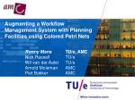 Augmenting a Workflow Management System with Planning Facilities using Colored Petri Nets