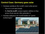 Central Case: Germany goes solar
