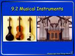 9.2 Musical Instruments