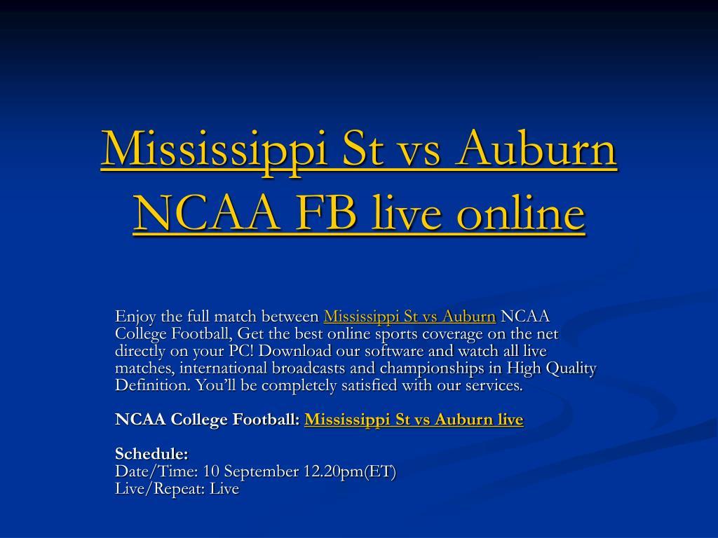 mississippi st vs auburn ncaa fb live online l.
