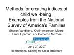 Methods for creating indices of child well-being:  Examples from the National Survey of America's Families