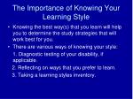The Importance of Knowing Your Learning Style