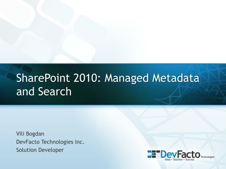 sharepoint 2010 managed metadata and search n.