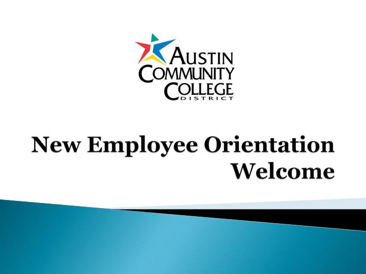 new employee orientation welcome n.