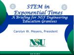 A Briefing for NSF Engineering Education Grantees