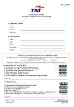 TM TRAINING CENTRE EXTERNAL TRAINING EVALUATION FORM