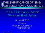 13:15 - 13:50 Friday 15/12/95 Wentworth Hotel Sydney