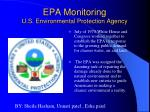 EPA Monitoring  U.S. Environmental Protection Agency