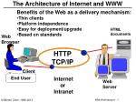 The Architecture of Internet and WWW