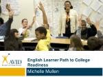 English Learner Path to College Readiness