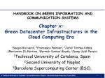 Chapter x: Green Datacenter Infrastructures in the Cloud Computing Era