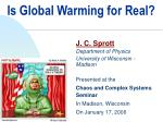 Is Global Warming for Real?