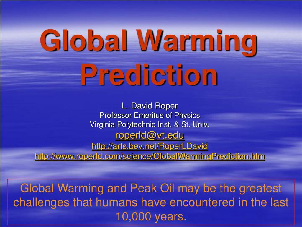 global warming prediction l.