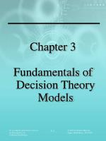 Chapter 3 Fundamentals of Decision Theory Models