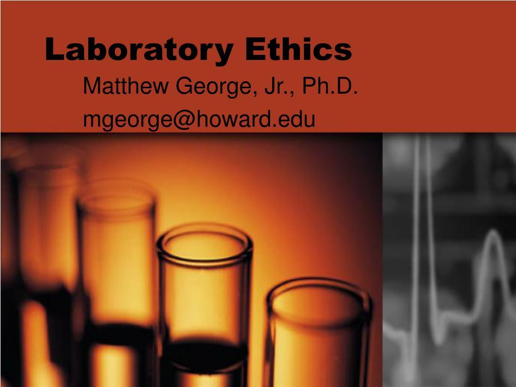 laboratory ethics l.