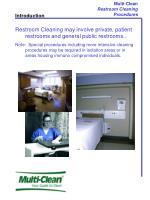 Multi-Clean Restroom Cleaning Procedures