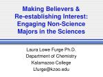 Making Believers & Re-establishing Interest: Engaging Non-Science Majors in the Sciences