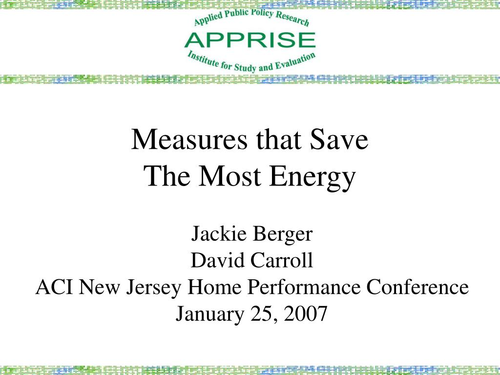 measures that save the most energy l.