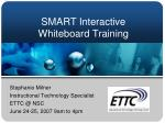 SMART Interactive Whiteboard Training