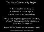 The New Community Project