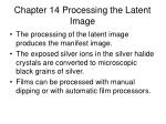 Chapter 14 Processing the Latent Image