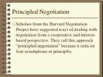 Principled Negotiation