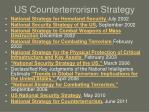 US Counterterrorism Strategy