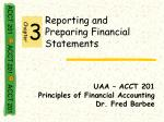 Reporting and Preparing Financial Statements