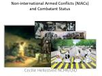 Non-international Armed Conflicts (NIACs) and Combatant Status
