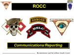 Communications/Reporting